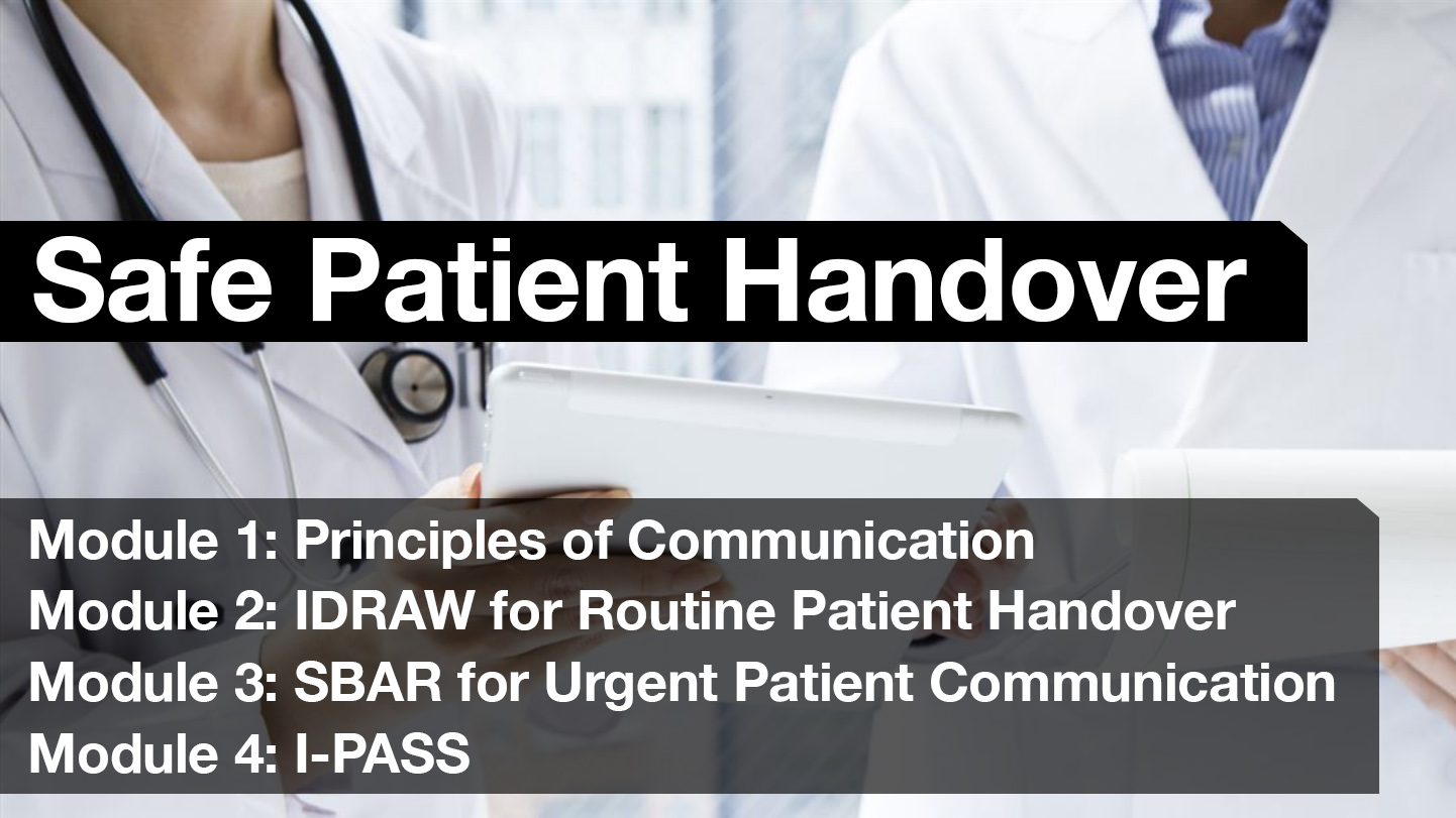 Safe Patient Handover Free Curriculum Modules