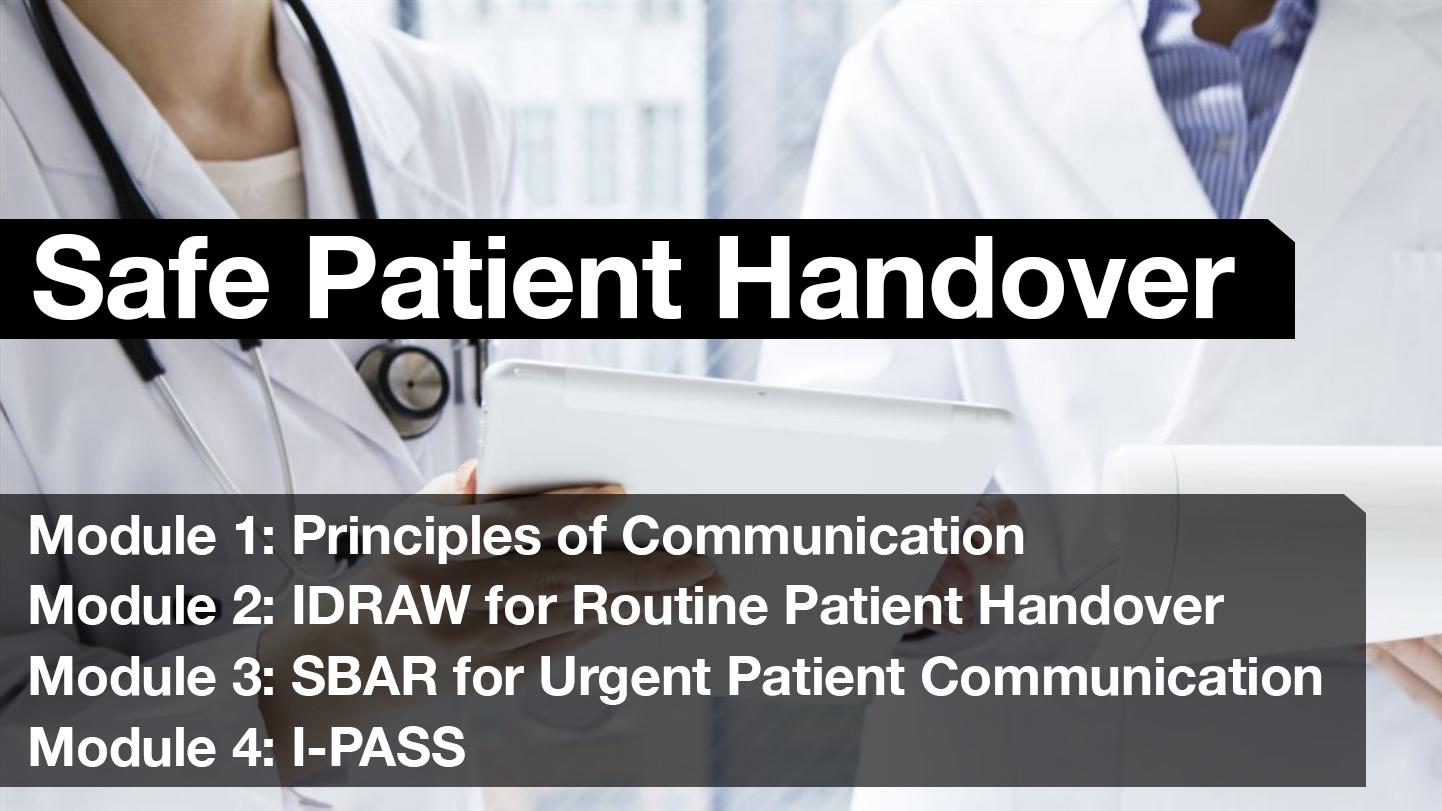 Safe Patient Handover Free Curriculum Modules