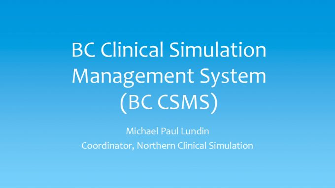 BCSN Clinical Management System Presentation